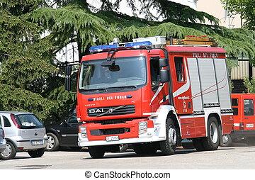 fire truck fire engine run