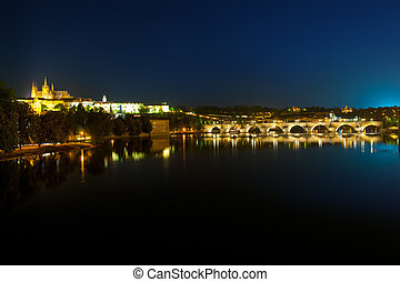 Prague after sunset - Prague castle after sunset is getting...