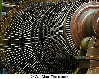 reparación, potencia, generador, Durante, turbina, vapor