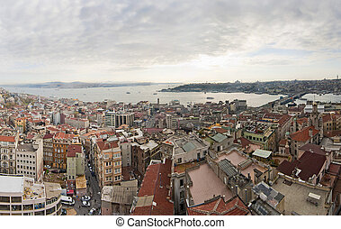 Panoramic cityscape over Istanbul, Turkey