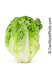 lettuce heart - a lettuce heart on a white background