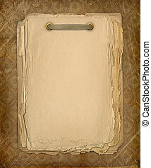 Grunge copybook for information in scrapbooking style with ribbon