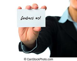 contato, nós, negócio, cartão