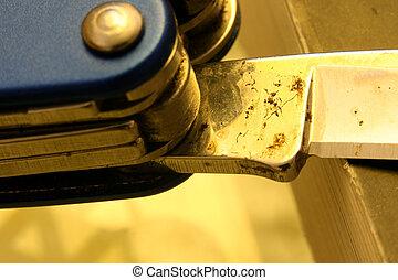 Pocket Knife - Close up of a pocket knife
