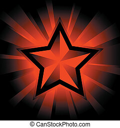 shining star - vector illustration of shining star on black