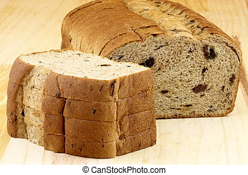wholegrain raisins and nuts bread - fresh baked wholegrain...