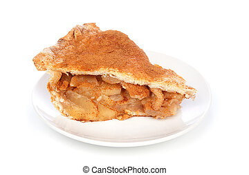 Apple Pie Slice - A scrumptious slice of apple pie on a...