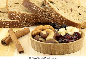 wholegrain raisins and assorted nuts bread - fresh baked...