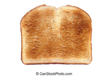 Toast isolated on white