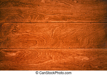 Hardwood floor - A beautiful deep, rich hardwoor floor with...