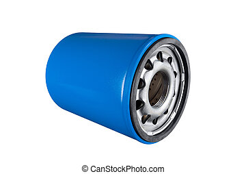 Oil filter - Automobile oil filter isolated on a white...