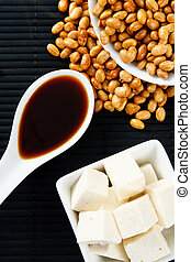 Soybeans with Soy Sauce and Tofu - Soybeans, Soy Sauce and...