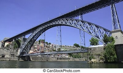 Dom Luis I bridge in Porto, Portugal.