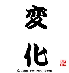 Japanese Calligraphy Change