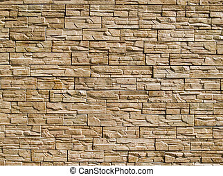 Decorative stones wall - Rough decorative stone wall for a...