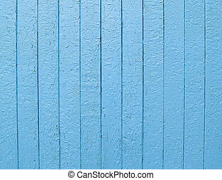 Light-blue fence - Wooden light-blue fence