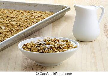 fresco, horno, sano, granola