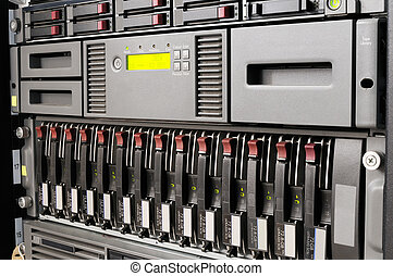 Rack mounted IT equipment - Rack mounted blade servers,...