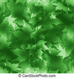 maple leaf - seamless pattern with green maple leaf