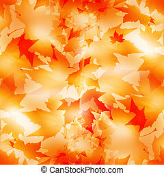 maple leaf - Autumn seamless pattern with a maple leaf