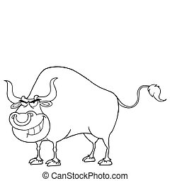 Outlined Tough Bull
