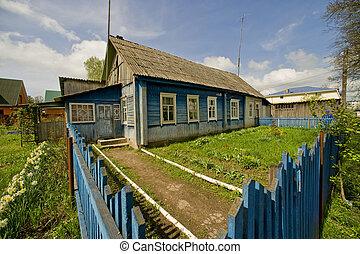 Russian village garden