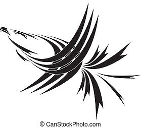 sky king - Eagle symbol isolated on white for design - also...