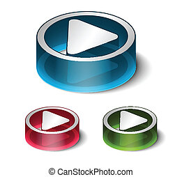 3d play play icon