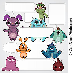 cartoon monster card
