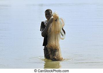 Traditional fisherman, Senegal