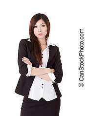 young manager - Attractive Asian beautiful young manager,...