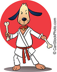 Karate Dog - martial arts trained dog