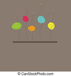 Background with flowers. Vector illustration