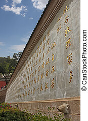 The heart sutra wall - The complete Chinese text of Heart...