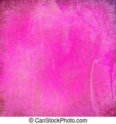 grunge pink textured surface with frame - Grunge pink...