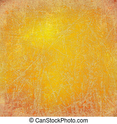 grunge sunny yellow scratched textured background