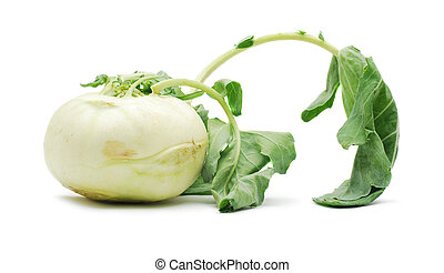 kohlrabi isolated