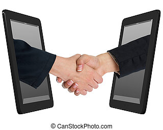 Wireless Internet Handshaking Concept with Tablet Computer -...