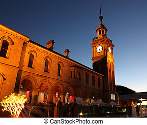 Customs House - Newcastle Australia - Illuminated night...