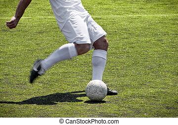 Soccer player free kick