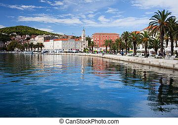 Split in Croatia - Scenic waterfront in Split, Croatia