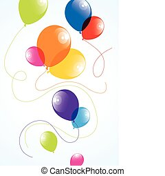 vector illustration of colorful balloons in the sky
