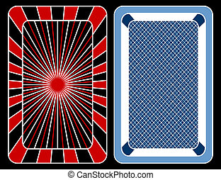 Cards playing - Design of playing cards on a black...