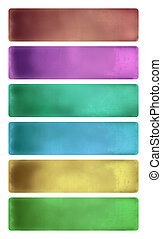 Colorful watercolor textured banner set isolated with...