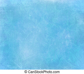 Blue sky chalk smudged handmade paper background - Blue sky...