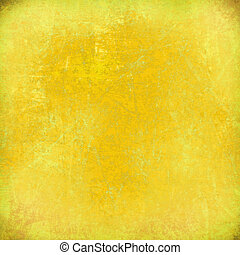 Lemon yellow grunge scratched background