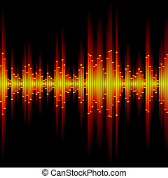 Sound waveform. Seamless vector.