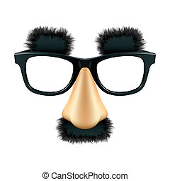 Funny mask - Vector illustration of a funny mask