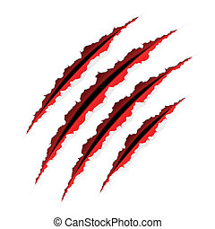 Claws scratches - Easy editable vector illustration of claws...