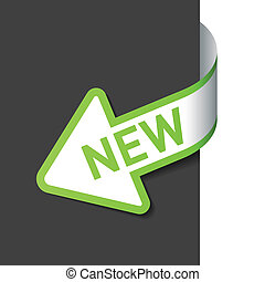 Sign New on the arrow. Easy editable vector illustration.